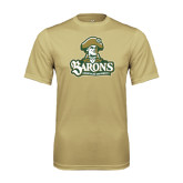 Performance Vegas Gold Tee-Barons - Franciscan University - Official Logo