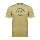 Performance Vegas Gold Tee-Lacrosse Arched Cross Sticks Design