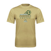 Performance Vegas Gold Tee-Stacked Soccer Design