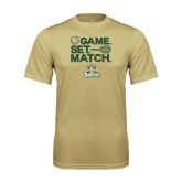 Performance Vegas Gold Tee-Game. Set. Match. Tennis Design