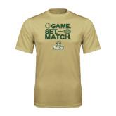 Syntrel Performance Vegas Gold Tee-Game. Set. Match. Tennis Design