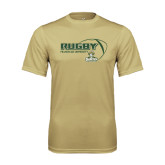 Performance Vegas Gold Tee-Rugby Ball Design