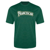 Performance Dark Green Heather Contender Tee-Arched Franciscan