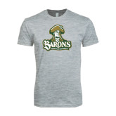 Next Level SoftStyle Heather Grey T Shirt-Barons - Franciscan University - Official Logo