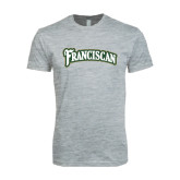 Next Level SoftStyle Heather Grey T Shirt-Arched Franciscan