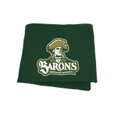 Dark Green Sweatshirt Blanket-Barons - Franciscan University - Official Logo