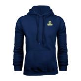 Navy Fleece Hood-Barons - Franciscan University - Official Logo