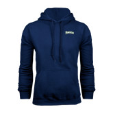 Navy Fleece Hoodie-Arched Franciscan