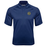 Navy Textured Saddle Shoulder Polo-Seal