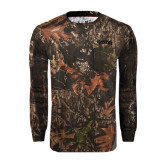 Realtree Camo Long Sleeve T Shirt w/Pocket-Arched Franciscan Tone