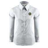 Ladies Red House White Long Sleeve Shirt-Seal