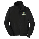 Black Charger Jacket-Barons - Franciscan University - Official Logo