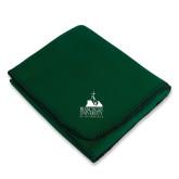 Dark Green Arctic Fleece Blanket-Franciscan University Mark