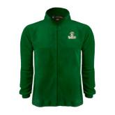 Fleece Full Zip Dark Green Jacket-Barons - Franciscan University - Official Logo
