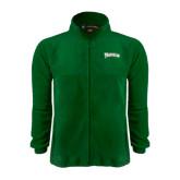 Fleece Full Zip Dark Green Jacket-Arched Franciscan