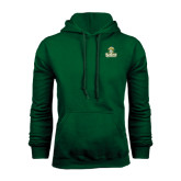 Dark Green Fleece Hood-Barons - Franciscan University - Official Logo