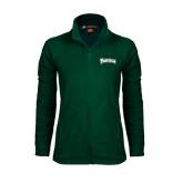 Ladies Fleece Full Zip Dark Green Jacket-Arched Franciscan
