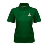 Ladies Dark Green Dry Mesh Polo-Barons - Franciscan University - Official Logo