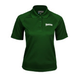 Ladies Dark Green Textured Saddle Shoulder Polo-Arched Franciscan