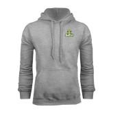 Grey Fleece Hoodie-Barons - Franciscan University - Official Logo