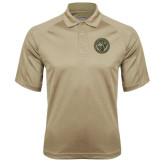 Vegas Gold Textured Saddle Shoulder Polo-Seal