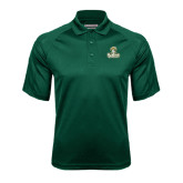 Dark Green Textured Saddle Shoulder Polo-Barons - Franciscan University - Official Logo