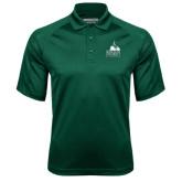 Dark Green Textured Saddle Shoulder Polo-Franciscan University Mark