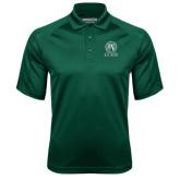 Dark Green Textured Saddle Shoulder Polo-Alumni - Seal