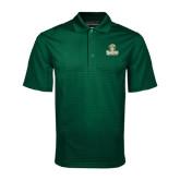 Dark Green Mini Stripe Polo-Barons - Franciscan University - Official Logo