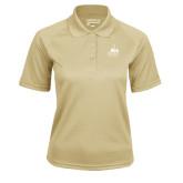 Ladies Vegas Gold Textured Saddle Shoulder Polo-Franciscan University Mark