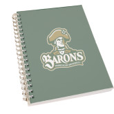 Clear 7 x 10 Spiral Journal Notebook-Barons - Franciscan University - Official Logo