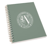 Clear 7 x 10 Spiral Journal Notebook-Fanciscan University Seal
