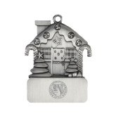 Pewter House Ornament-Fanciscan University Seal Engraved
