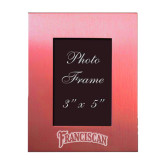 Pink Brushed Aluminum 3 x 5 Photo Frame-Arched Franciscan Engraved