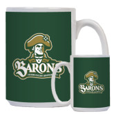 Full Color White Mug 15oz-Barons - Franciscan University - Official Logo