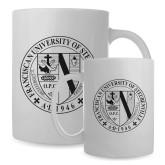 Full Color White Mug 15oz-Fanciscan University Seal