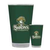 Full Color Glass 17oz-Barons - Franciscan University - Official Logo