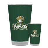 Full Color Glass 17oz-Barons - Franciscan University - Official Logo
