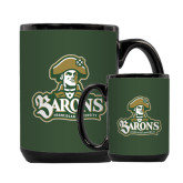 Full Color Black Mug 15oz-Barons - Franciscan University - Official Logo