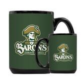 Full Color Black Mug 15oz-Barons - Franciscan University - Official Logo
