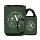 Full Color Black Mug 15oz-Fanciscan University Seal