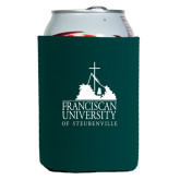 Neoprene Green Can Holder-Franciscan University Mark
