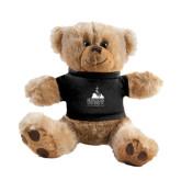 Plush Big Paw 8 1/2 inch Brown Bear w/Black Shirt-Franciscan University Mark