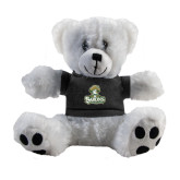 Plush Big Paw 8 1/2 inch White Bear w/Black Shirt-Barons - Franciscan University - Official Logo