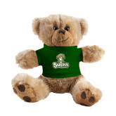Plush Big Paw 8 1/2 inch Brown Bear w/Dark Green Shirt-Barons - Franciscan University - Official Logo