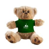 Plush Big Paw 8 1/2 inch Brown Bear w/Dark Green Shirt-Franciscan University Mark