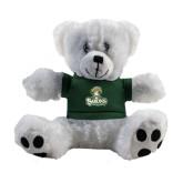 Plush Big Paw 8 1/2 inch White Bear w/Dark Green Shirt-Barons - Franciscan University - Official Logo