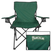 Deluxe Green Captains Chair-Arched Franciscan
