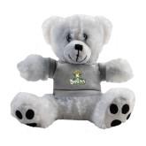 Plush Big Paw 8 1/2 inch White Bear w/Grey Shirt-Barons - Franciscan University - Official Logo