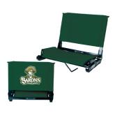 Stadium Chair Dark Green-Barons - Franciscan University - Official Logo